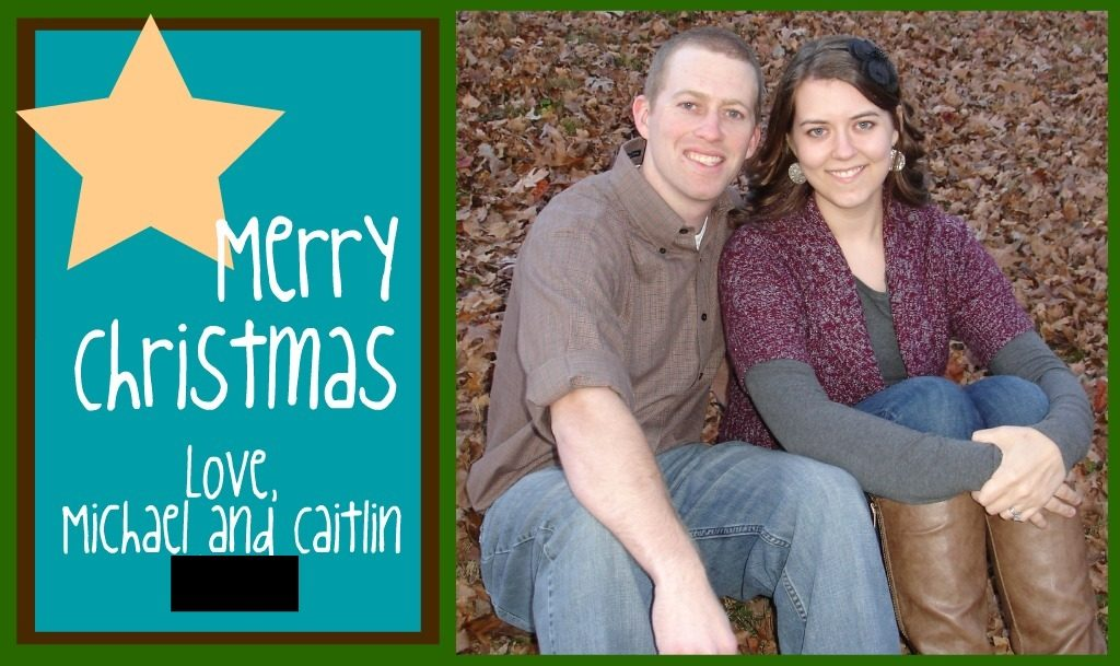 a DIY Christmas card attempt that failed
