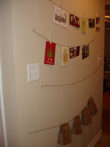 Christmas card display {Works for Me Wednesday}