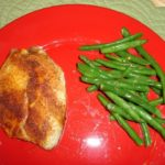 baked tilapia and green beans