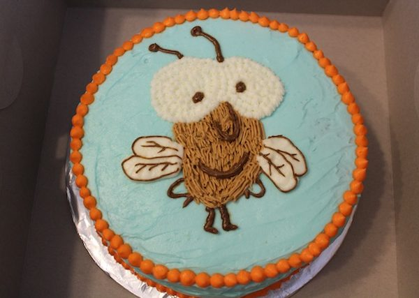 Tedd Arnold author visit + a Fly Guy cake