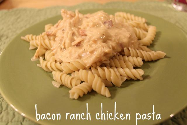 bacon ranch chicken pasta