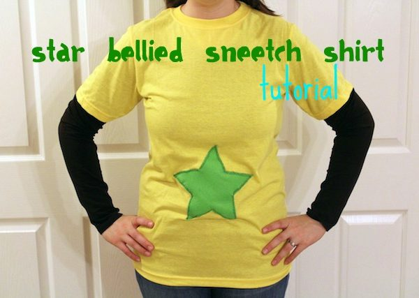 Star Bellied Sneetches shirt tutorial