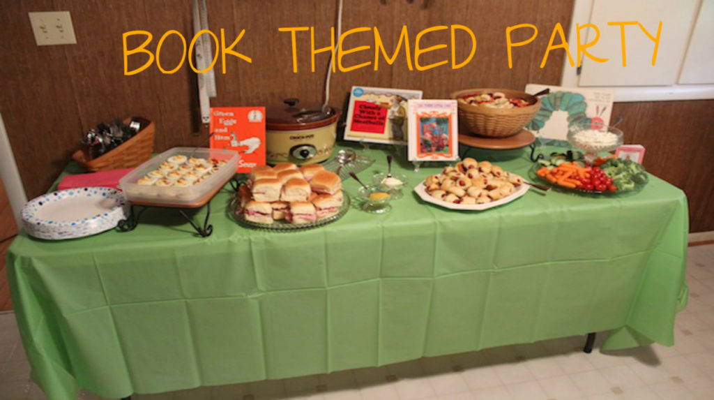 book themed party {Works for Me Wednesday}