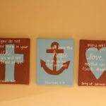 faith, hope, and love canvases