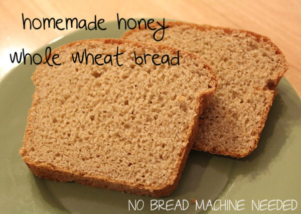 honey whole-wheat sandwich bread (no bread machine needed)
