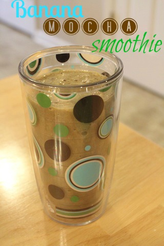 real food banana mocha smoothie