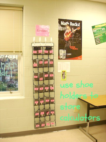 shoe organizer to hold calculators