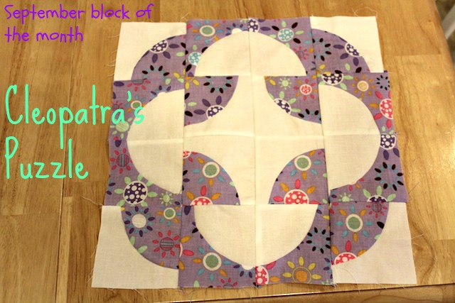 September Craftsy Block of the Month - Cleopatra's Puzzle