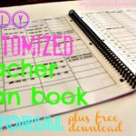 DIY customized lesson planner tutorial