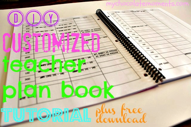 DIY teacher plan book download