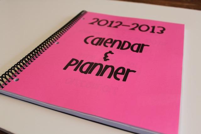 custom lesson planner and calendar