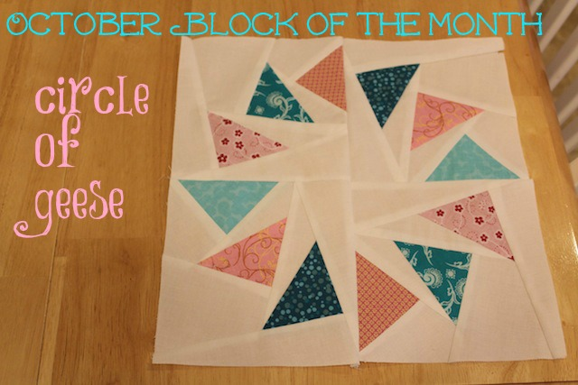 Craftsy block of the month for October - circle of geese
