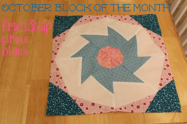 Craftsy block of the month October - friendship circle