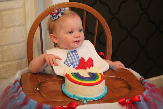 Nora's first birthday smash cake