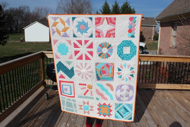 finished Craftsy block of the month quilt 2