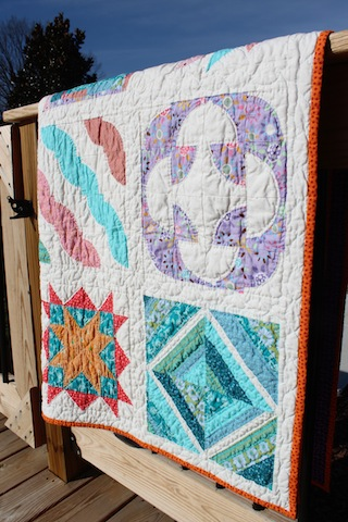 finsihed Craftsy block of the month quilt 4