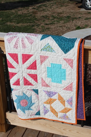 finsihed Craftsy block of the month quilt 5