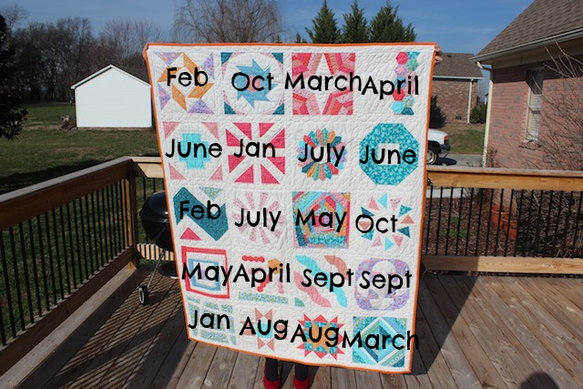 labeled Craftsy BOM quilt