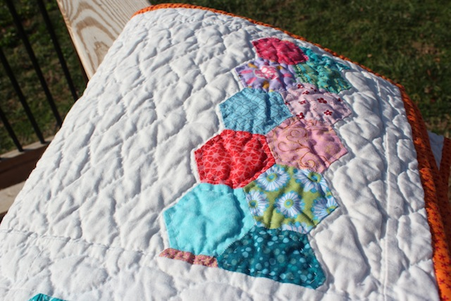 quilted hexi stripe