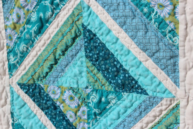 quilted string block