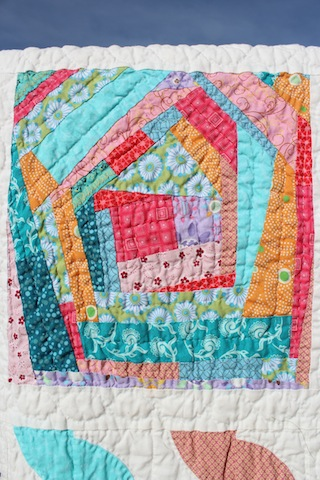 quilted wonky log cabin