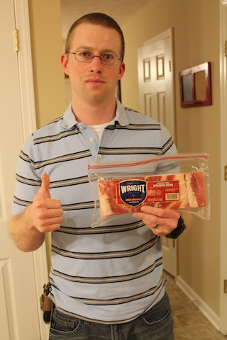Michael with bacon