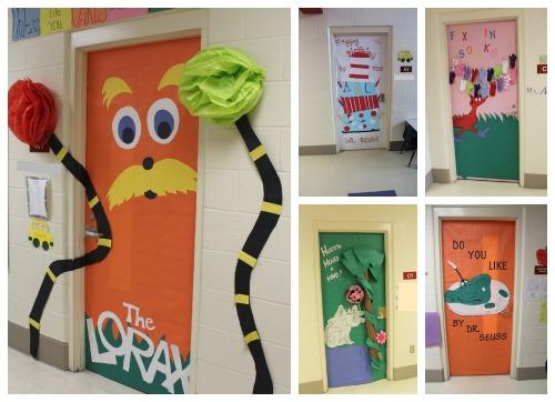 Dr. Suess door collage