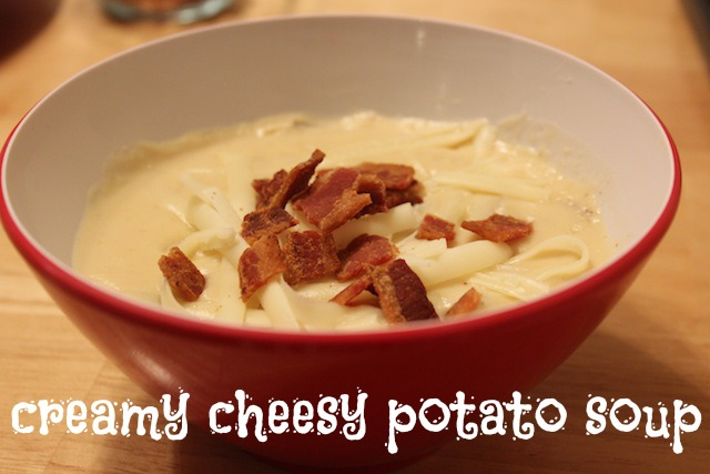 creamy cheesy potato soup