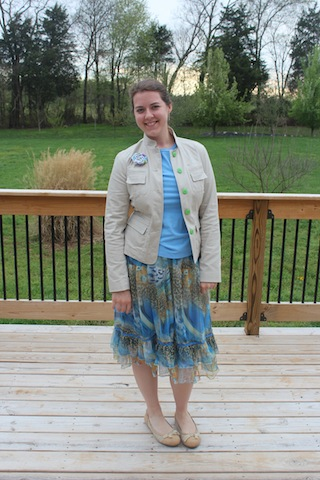 modest blue with jacket