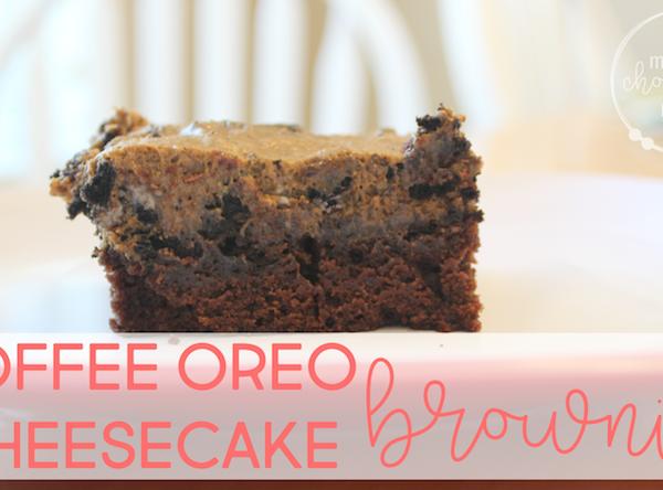 Coffee Oreo Cheesecake Brownies