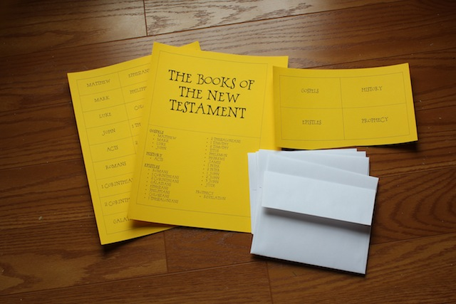 books of the New Testament envelope book supplies
