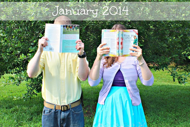 pregnancy announcement with books