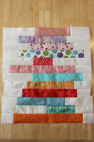 stacked books quilt block