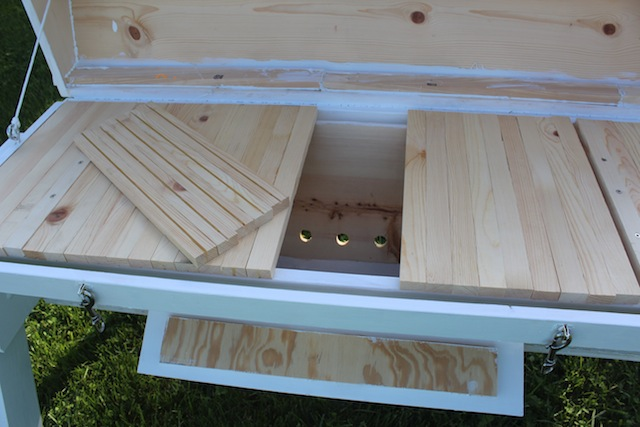 top bar hive inside