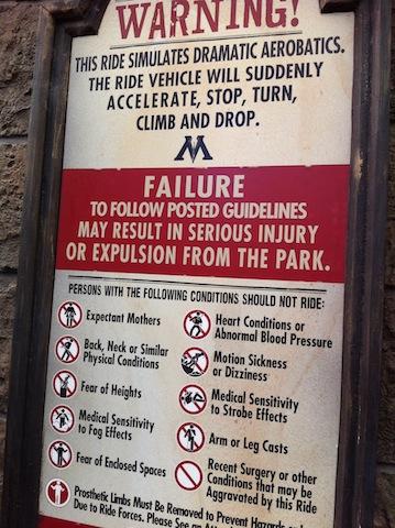 ride caution