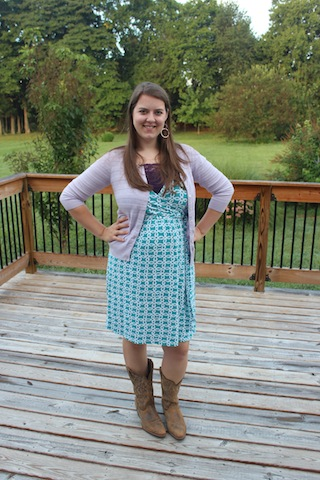 dress with cowboy boots