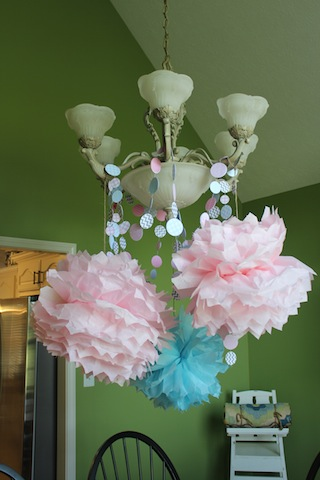 poms and garland