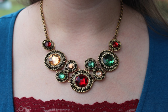 bellaboulie jewel tone statement necklace