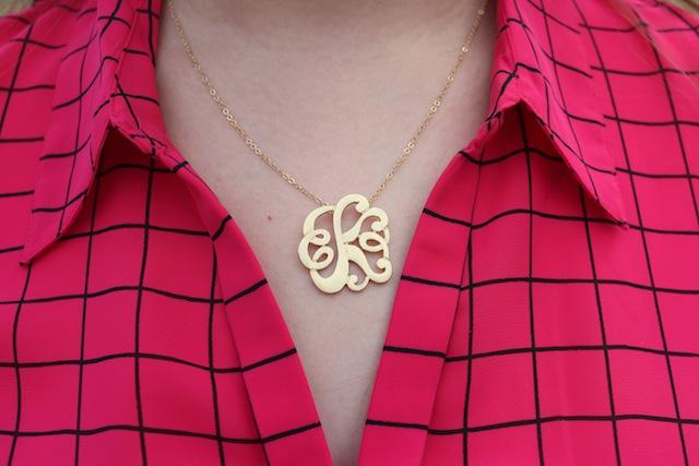 bellaboulie monogram initial gold pendant