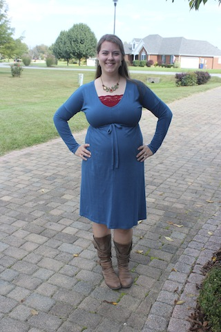 teal Old Navy maternity dress