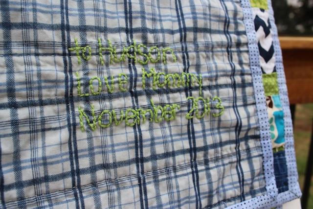 Hudson's signed quilt