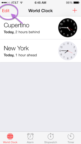 how to add a timezone to your iphone 1