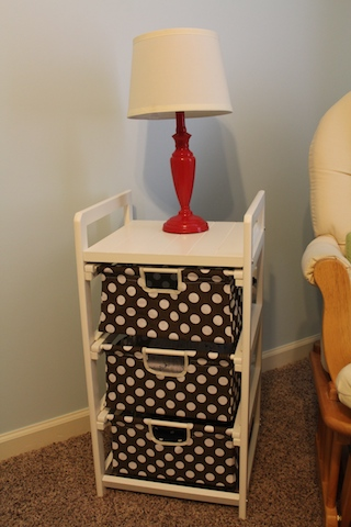 polka dot end table