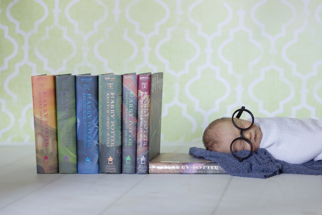 Harry Potter newborn pictures