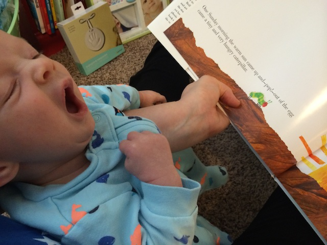 reading the very hungry caterpillar