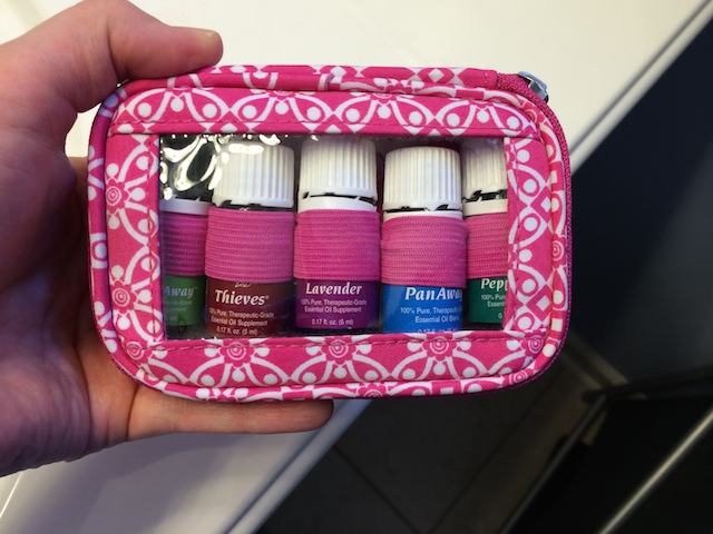 Young Living essential oils on the go