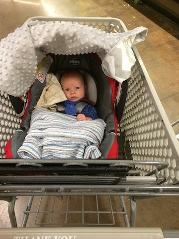 first time shopping with a baby