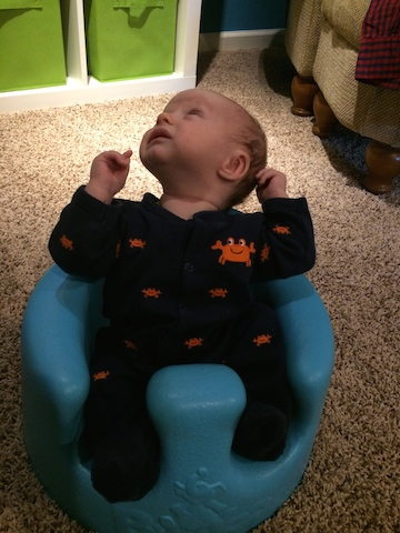 first time in the bumbo seat