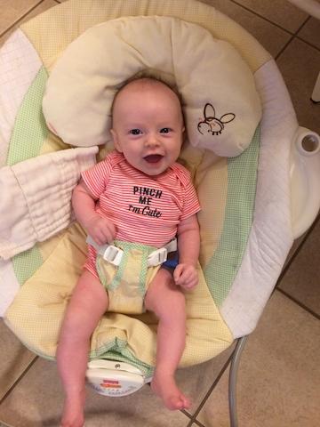 precious smiling baby