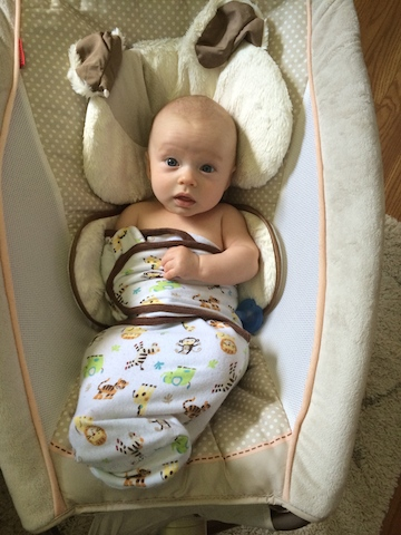 rock and play and swaddle